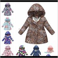 Girl Floral Cotton Jackets Leopard Children Hooded Coat Winter Warm Girls Outwear Designer Kids Clothing 13 Designs Gu3N3 Z3B7H