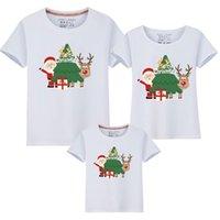 Abiti di abbinamento per famiglie Abbigliamento Natale Dad Bambino T-shirt Abbigliamento divertente madre figlia padre figlio mamma e me camicia 210417