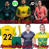 21/22 Norwich Soccer Jerseys City Edition Special per i fan Huckill Roberts Hernandez Pukki 2021 Buendia Stiepermann Cantwell Skipp Men + Kids Kit Sock Full Set