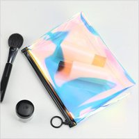 Creative Women Laser Colorful Travel Trasmetic Bag Cosmetico Trasparente impermeabile Zipper Portatile Make Up Case Kit Ponch Casi