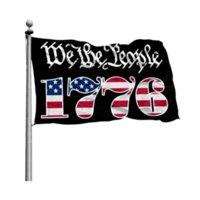 Voorraad groothandel prijs Wij de mensen Betsy Ross 1776 3x5FT vlaggen 100D polyester banners indoor outdoor levendige kleur hoge kwaliteit met twee messing grommets v11