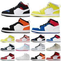 Jumpman 1 4 Diseñador 1 4 zapatos de baloncesto de los niños Niños Toddler deportes rojo Chicago muchachas del muchacho 1s baloncesto Pour Enfants zapatillas de atletismo