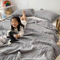 Couchons Ensembles Super Soft Couvre-lit Summer Couverture Sofa Sofa Couvre-lit Literie Couette pour enfants Marchandises pour adultes 2 taies d'oreiller + 1