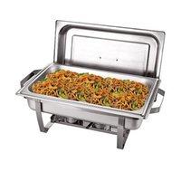 Hot Selling Roestvrijstalen voorraad POTS Economische hand-heffen Cover Volledige platen Buffet Chafing gerechten voedsel warmer