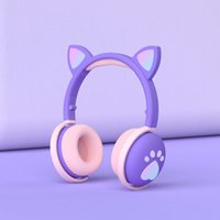 LED Cat Ears Headset Gaming Noise Canceling Stereo Headphones Wireless Earphones Auricular Audifonos