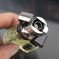 Portable Nozzle Butane Jet Gas Key Ring Lighters Spray Gun Welding Torch Lighter Windproof Household Items Smoker Gifts No Fuel# H0909