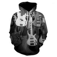 Men's Hoodies & Sweatshirts Men Clothes 2021 Electronic Guitar Hoodie Women 3D Print Bass Harajuku Streetwear Casual Tracksuit Tops1
