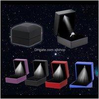 Gadget Verkauf LED Beleuchtet Ohrring Geschenkbox Hochzeit Verlobungsring Schmuck Anzeigen Leuchten Diamant Überraschung vonirx o8mnb