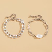 bracelet Jewelry fashion special-shaped imitation pearl metal feminine exaggeration multi-layer chain ornaments