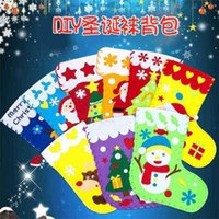 Christmas Stockings Decoration Gifts Bags Children's Kindergarten DIY Snowman Santa Candy Bag Xmas Tree Toy Gift Bag Supplies Pandents G01TIDY