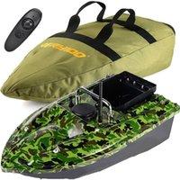 Camo 500m Wireless Hook Post Boat RC Carp Fishing Köder 2 Motoren Einzelhandsteuerung + Tragetasche Fischfinder