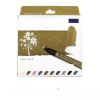 Ulhu STA 8151 Renk Metal Boyama Kalemler Marker Boya Not Numarası DIY Markalama İşaretleme Penpen DIY Albümü Siyah Karton Sanat Marker