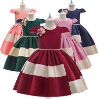 Girl's Dresses Kids Teenage Girls Clothes Children Wear Birthday Flower Party Formal Princess Dress Pageant B5599