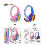 2021 New Decompression Creative Silicone Headset Toy Fidget Wireless Headphone Toy Headphone Fidget Toy Tie Dye Headphone