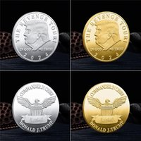 2024 Trump Coin US Presidential Election Commemorative Coin Collection Coin Gold and Silver Metal Badge Crafts T500770