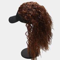 Bolas sintéticas femininas Bolas de bola de rabo de cavalo alto Boné de beisebol natural macio macio chapéus removíveis para mulheres