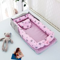المحمولة الوليد الطفل سرير عش السرير للأطفال بنين بنات السفر الرضع القطن مهد سرير الطفل النوم مجموعة 985 v2