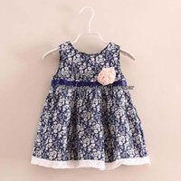 Цветочные платья Дети Летняя Девушка Одежда Повседневная Детская Мода Принцесса Детская Одежда Милая