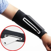 Elbow & Knee Pads 1PCS Unisex Short Arm Warmer For Mobile Phone Stretch Bag Running Riding Sunscreen Armband Wrist Cycling Sleeves