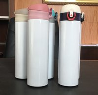 STRAIGHT Sublimation Water Bottle 500ml 350ml skinny Tumbler with lids Portable Double Walled Insulated Vacuum Stainless Steel beer cup