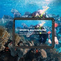 Snowproof Case for iPad 10.9'' 2020 IP68 Waterproof Sports Outdoor 360 Full Protective Swimming Protective Shell Hybrid Rugged Armor Clear Cover Dropproof