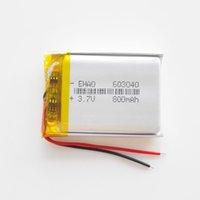 Модель 603040 3.7V 800MAH Литий-полимер Li-PO Перезаряжаемый аккумулятор для MP3 MP4 DVD Pad Mobile Phone GPS Power Bank Камера электронные книги Recoder