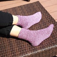 Warm Uskincare 5 Pairs Women Socks Winter Thermal Polyester Thick Socks Cotton Breathable Female Solid Casual 3d Ladies Casual Home Socks