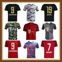 Jogador Versão Jersey 21 2 22 Sane Lewandowski Coman Bayern Munique Final 2021 2022 Camisa de Futebol Nianzou Munchen Gnaby Homens