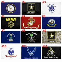 US-Armee-Flagge USMC 13 Armee Direkte Fabrik Großhandel 3X5FTs 90x150cm Luftwaffe Schädel Gadsden Camo Army Banner US Marines GWD6414