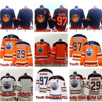 2021 Edmonton Oilers Kids (Juventude) 97 Connor McDavid Jersey 29 Leon Draisaitl 93 Ryan Nugent-Hopkins Hóquei Jerseys Wear