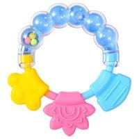 Silikon Zahngummi Beißringe Schnuller Kreis Ring Baby Rasseln Beißung Spielzeug Kind Niedlichen Säuglingsglocke Großhandel Molarstange ood5875