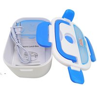 New Multifunctional Portable Electric Heating One-piece Separated Lunch Box Food Container Warmer For office workers students OWA8559