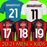21 22 fãs Versão do jogador Mandzukic AC Soccer Jerseys Milan Balr. 2021 Ibrahimovic Tonali Çalhanoglu Kessie Homens e Kid Kits Camisas de futebol