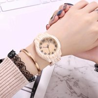 Luxury Watches Women Top Brand Mens Watch Roman Numerals Wood PU Leather Band Analog Quartz Wrist Relogio Wristwatches