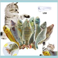 Supplies Home Garden Soft Plush 3D Shape Cat Interactive Gifts Fish Catnip Toys Pillow Doll Simulation Playing Toy For Pet Drop Delive
