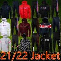 2021 22 Paris Capuche à capuche à capuche pleine fermeture à glissière à capuche Sweat à capuche survèlement Mbappe Football Jacket Veste Sportswear