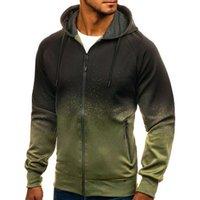 Men's Sweaters Casual Hoodies Men 3D Digital Printing Hooded Sweatshirt Coat Mens Hip-Hop ZIP Hoody Sportswear Tracksuit Male Streetwear