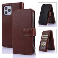 Business Wallet Cases Card Slot Bracket Leather Cell Phone Purses For iPhone12 iPhone 11 Pro Max 7 Plus 8 8P Samsung Galaxy Note20 Note 20 Ultra S10 S10E S20 S20FE 5G