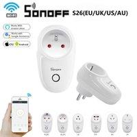 Smart Power Plugs Sonoff S26 Wi-Fi Socket EU (E / F) US / UK / AU / CN Световой коммутатор Выпускной знак Таймер Беспроводная дистанционная работа с Alexa Google Home IFTTT
