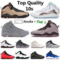 2021 Topp som säljer Jumpman 10 10s män basketskor vingar öken camo cement seattle tinker im back svart cool grå chicago sneakers vo vit av tränare sport
