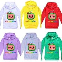Cocomelón Baby Boys Sweatershirt T-shirt Primavera Otoño Unisex Sudaderas con capucha con capucha Chico y niñas Suéter de moda Top Casual Sports Ropa G4988Ti