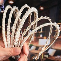 Женщины Белые Жемчужины Приколы Сладкая Оголовье Свадебные Волосы Держатель Орнамент Голова Леди Мода Принадлежности для волос