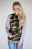Women's Hoodies & Sweatshirts Women Fashion Camouflage Hoodie Sweatshirt Crop Top Pullovers Autumn Winter Clothes