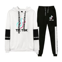 Autumn Winter Women Tracksuit TIK TOK 3D Print Hooded Sweatshirt + Pants Long Sleeve Outfits Two Piece Suit Casual Hooded Sportswear H5236AC