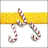 Findings de jóias Componentes jóias de jóias50pcs liga esmalte feliz natal charme encorações deslizamento diy 8mm pulseiras pulseiras, correias cintos pe