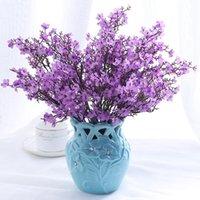 Flores decorativas guirnaldas artificial cereza flor ciruela melocotón rama seda flor de seda casero decoración de primavera falso