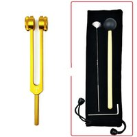 128hz professional ear digging tool tuning fork ear bell vibrator ring clip Buddha