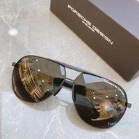 Óculos de sol Óculos de sol Aviator Oval Porsche azul marca uv400 p homens piloto dirigindo 8657 design porsche filme plating óculos de sol óculos de sol sagacidade gvet