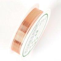 卸売0.3 / 0.4 / 0.5 / 0.6 / 0.7 / 0.8 / 1.0 mmの真鍮ゴールドシルバー銅線ビーズのビーズワイヤーのためのビーズワイヤー銅色1388 Q2