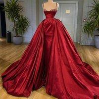 2021 Rote Spaghetti Abendkleider plus Größe Frauen Abendhemd Gowns Schatz Elegant Lang Vestido de Novia